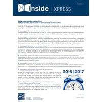 Steuertipps zum Jahresende 2016: 10 Sachverhalte, die Sie noch vor Jahresende beachten sollten