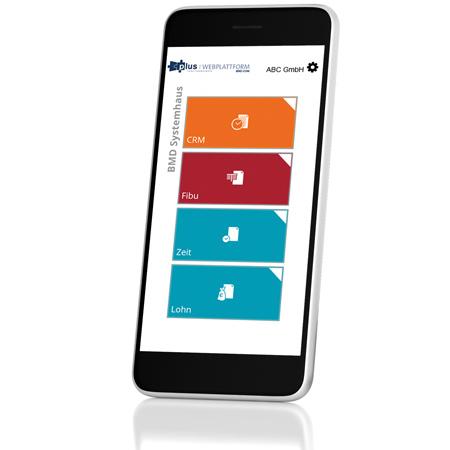 Smartphone-Ansicht unserer Webplattform
