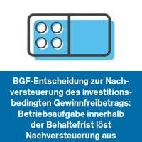 BGF-Entscheidung zur Nachversteuerung des investitionsbedingten Gewinnfreibetrags: Betriebsaufgabe innerhalb der Behaltefrist löst Nachversteuerung aus